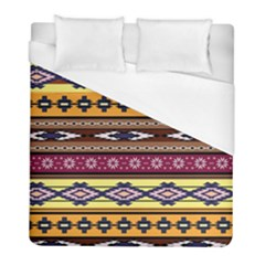 Colorful Tribal Art   Boho Pattern Duvet Cover (full/ Double Size) by tarastyle