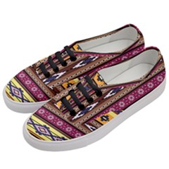 Colorful Tribal Art   Boho Pattern Women s Classic Low Top Sneakers by tarastyle