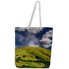 Hill Countryside Landscape Nature Full Print Rope Handle Tote (large)