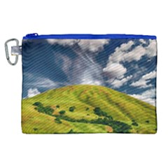 Hill Countryside Landscape Nature Canvas Cosmetic Bag (xl)