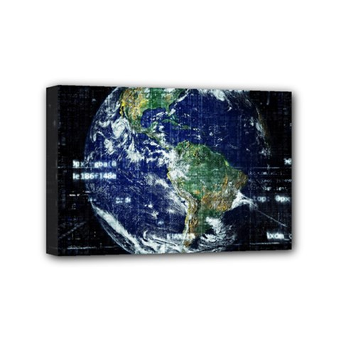 Earth Internet Globalisation Mini Canvas 6  X 4  by Celenk