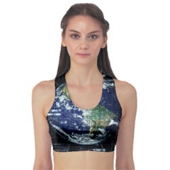 Earth Internet Globalisation Sports Bra by Celenk