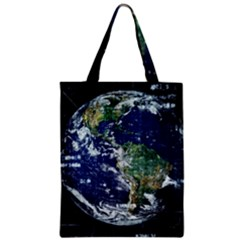 Earth Internet Globalisation Zipper Classic Tote Bag by Celenk