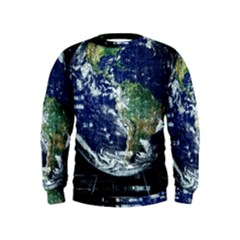 Earth Internet Globalisation Kids  Sweatshirt by Celenk
