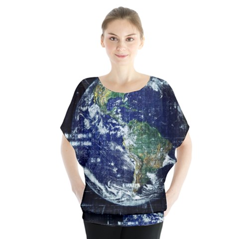Earth Internet Globalisation Blouse by Celenk