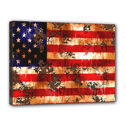 American Flag Usa Symbol National Canvas 16  X 12  by Celenk