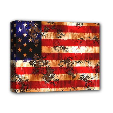 American Flag Usa Symbol National Deluxe Canvas 14  X 11  by Celenk