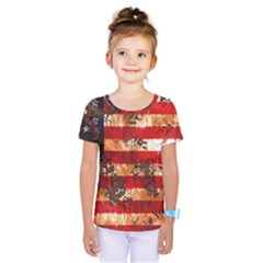 American Flag Usa Symbol National Kids  One Piece Tee