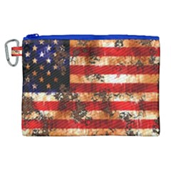American Flag Usa Symbol National Canvas Cosmetic Bag (xl)