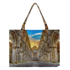 Abbey Ruin Architecture Medieval Medium Tote Bag by Celenk