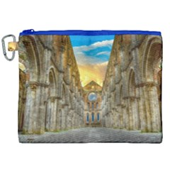 Abbey Ruin Architecture Medieval Canvas Cosmetic Bag (xxl) by Celenk