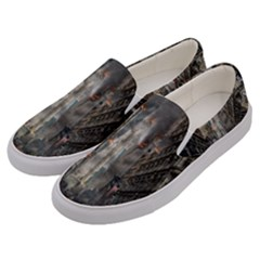 Destruction War Conflict Death Men s Canvas Slip Ons by Celenk