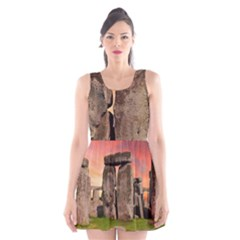 Stonehenge Ancient England Scoop Neck Skater Dress