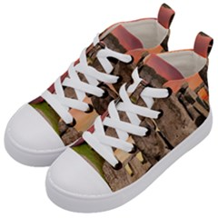 Stonehenge Ancient England Kid s Mid-top Canvas Sneakers by Celenk