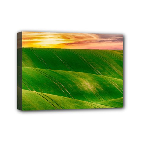 Hills Countryside Sky Rural Mini Canvas 7  X 5  by Celenk