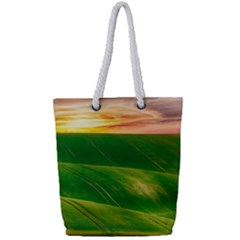 Hills Countryside Sky Rural Full Print Rope Handle Tote (small) by Celenk