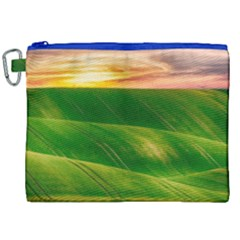 Hills Countryside Sky Rural Canvas Cosmetic Bag (xxl)