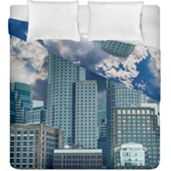 Tower Blocks Skyscraper City Modern Duvet Cover Double Side (king Size) by Celenk