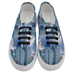 Tower Blocks Skyscraper City Modern Women s Classic Low Top Sneakers