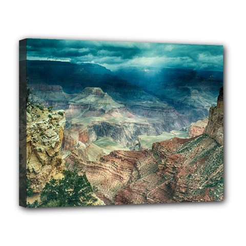 Canyon Mountain Landscape Nature Canvas 14  X 11  by Celenk