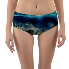 Canyon Mountain Landscape Nature Reversible Mid Waist Bikini Bottoms