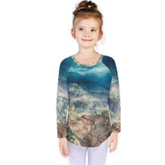 Canyon Mountain Landscape Nature Kids  Long Sleeve Tee