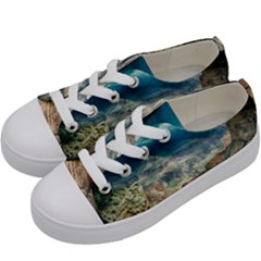 Canyon Mountain Landscape Nature Kids  Low Top Canvas Sneakers by Celenk