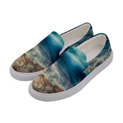 Canyon Mountain Landscape Nature Women s Canvas Slip Ons by Celenk
