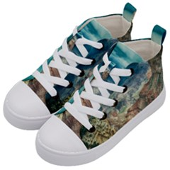 Canyon Mountain Landscape Nature Kid s Mid Top Canvas Sneakers by Celenk