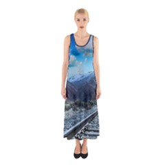 Nature Landscape Mountains Slope Sleeveless Maxi Dress by Celenk