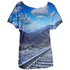 Nature Landscape Mountains Slope Women s Oversized Tee by Celenk