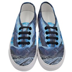 Nature Landscape Mountains Slope Women s Classic Low Top Sneakers