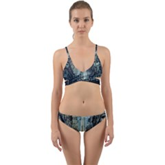Storm Damage Disaster Weather Wrap Around Bikini Set