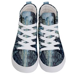 Storm Damage Disaster Weather Kid s Hi Top Skate Sneakers