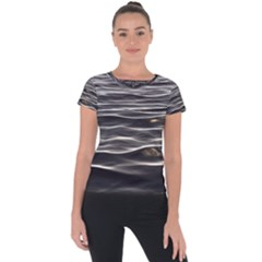 Texture Background Water Short Sleeve Sports Top