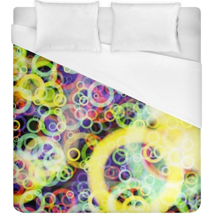 Background Texture Rings Duvet Cover (King Size)