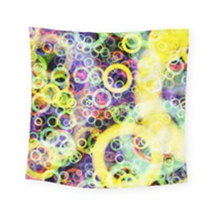 Background Texture Rings Square Tapestry (small)