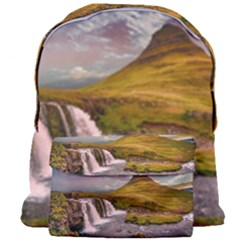 Nature Mountains Cliff Waterfall Giant Full Print Backpack