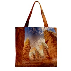 Canyon Desert Landscape Scenic Zipper Grocery Tote Bag by Celenk