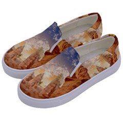 Canyon Desert Landscape Scenic Kids  Canvas Slip Ons by Celenk
