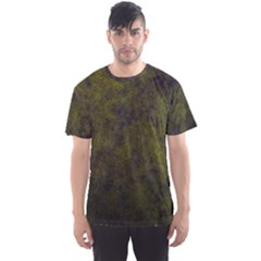 Green Background Texture Grunge Men s Sports Mesh Tee
