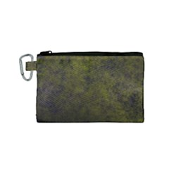 Green Background Texture Grunge Canvas Cosmetic Bag (small) by Celenk