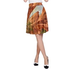 Canyon Desert Rock Scenic Nature A Line Skirt