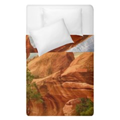 Canyon Desert Rock Scenic Nature Duvet Cover Double Side (single Size) by Celenk