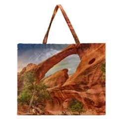 Canyon Desert Rock Scenic Nature Zipper Large Tote Bag by Celenk