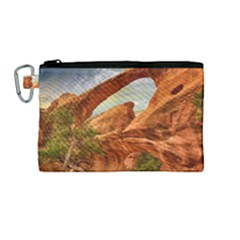 Canyon Desert Rock Scenic Nature Canvas Cosmetic Bag (medium) by Celenk