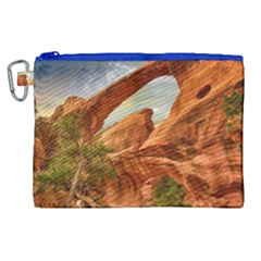 Canyon Desert Rock Scenic Nature Canvas Cosmetic Bag (xl) by Celenk