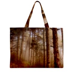 Forest Trees Wood Branc Mini Tote Bag