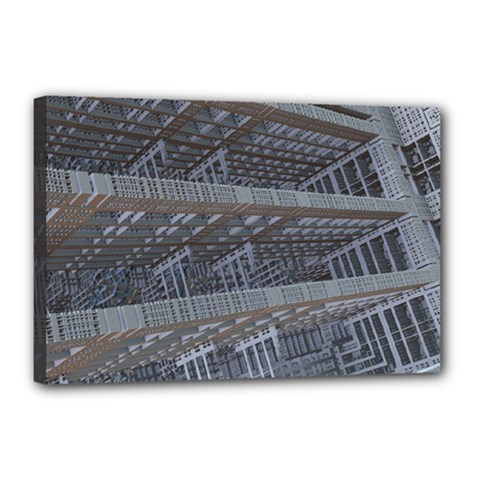 Ducting Construction Industrial Canvas 18  X 12  by Celenk