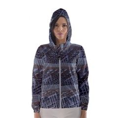 Ducting Construction Industrial Hooded Wind Breaker (women) by Celenk